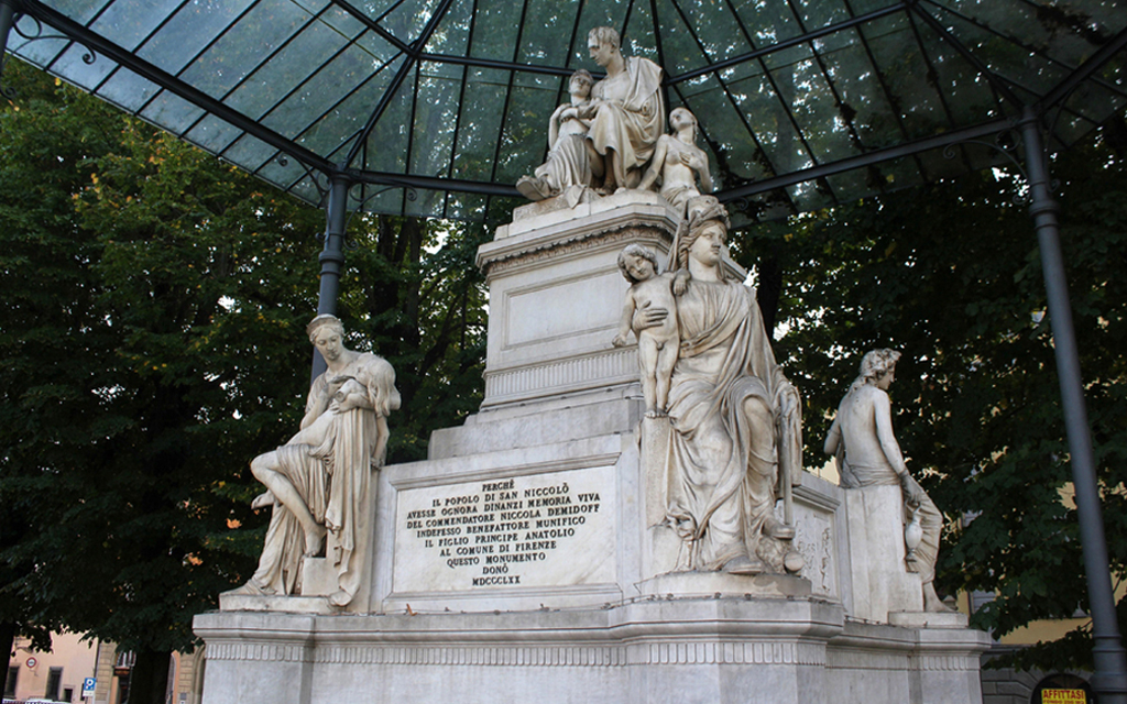Piazza Demidoff, Ferenza Памятник Демидову, площадь Демидова во Флоренции.