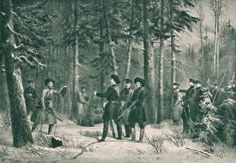 Охота на медведя Императора Александра II