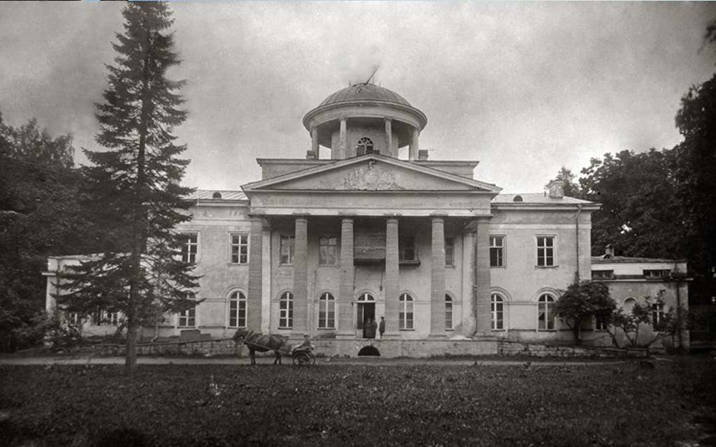 Усадьба Альбрехтов в д. Котлы.  Примерно 1917 г.