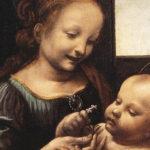 """Мадонна Бенуа"". Фрагмент. (ок. 1478—1480) — ранняя картина Леонардо да Винчи. Собрание Государственного Эрмитажа"