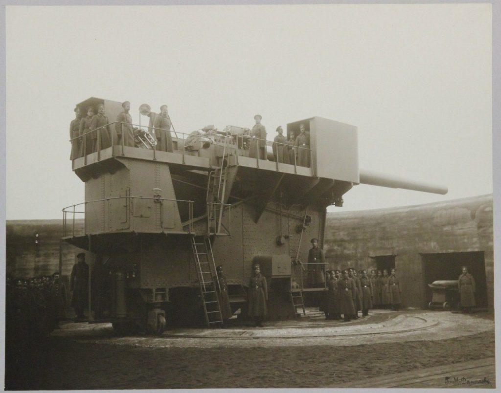"""Личный состав 305 мм орудия. Форт """"Красная горка"""", 1914 г."""