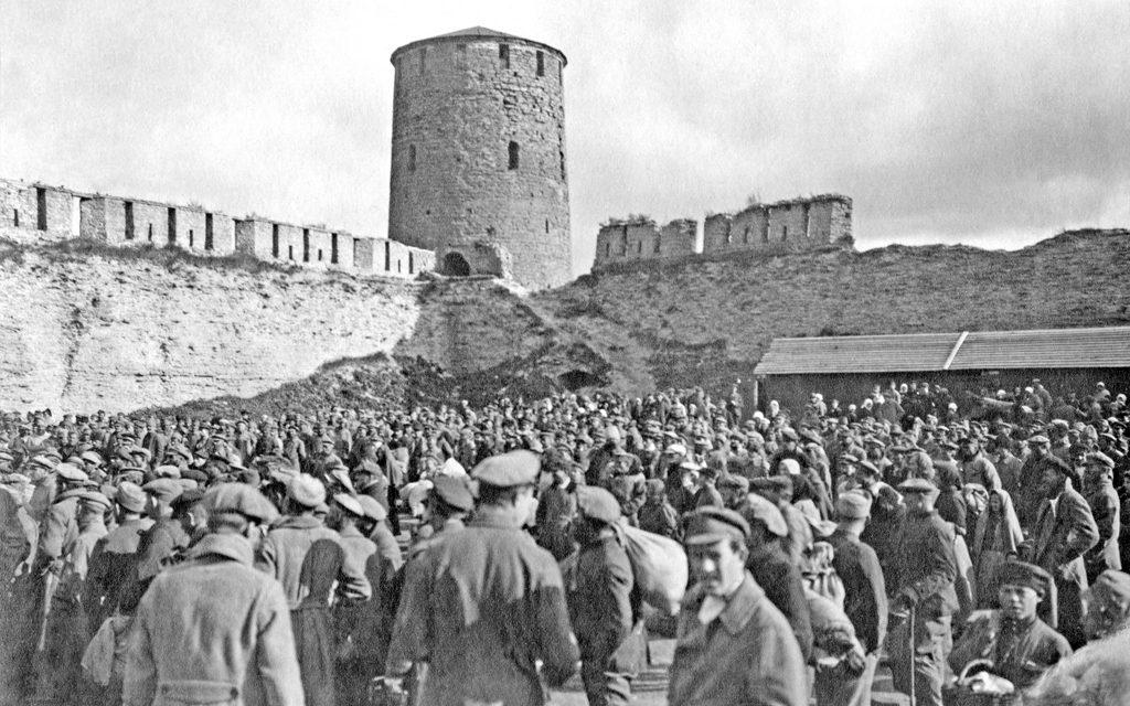 Карантинный лагерь в Ивангороде. Нарва. 1920 г.
